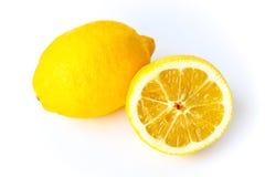 isolerad white för citroner två Arkivfoto