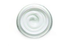 isolerad white för cosmetic kräm Arkivfoto