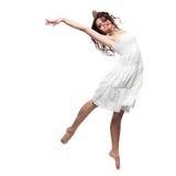 isolerad white för dans flicka Royaltyfri Fotografi