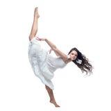 isolerad white för dans flicka Royaltyfria Foton