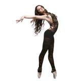 isolerad white för dans flicka Arkivfoton