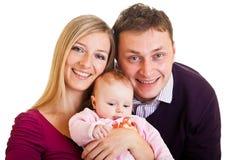 isolerad white för familj spädbarn Royaltyfri Bild