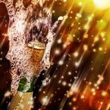 isolerad white för flaska champagne Arkivfoto