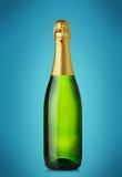 isolerad white för flaska champagne fotografering för bildbyråer