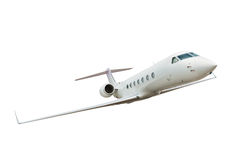 isolerad white för flygplan bakgrund Arkivbilder