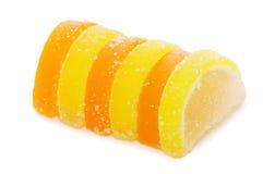 isolerad white för godis frukt Arkivfoto