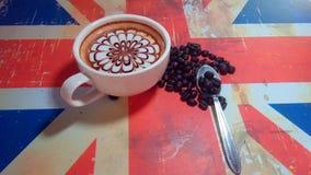 isolerad white för kaffe drink Arkivfoton