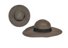 isolerad white för kvinnlig hatt Arkivbild