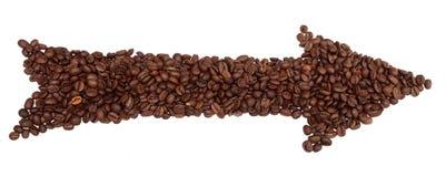 isolerad white för pilbönor kaffe Fotografering för Bildbyråer