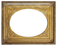 isolerad white för ram guld Royaltyfria Bilder
