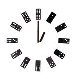 isolerad white för visartavla domino Arkivfoto