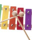 isolerad xylofon Arkivbild
