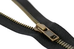 isolerad zipper Arkivbilder