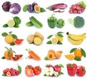 Isolerade äppleapelsinen för frukter och för grönsaker färgar samlingen fr Arkivfoton