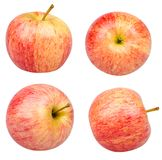 isolerade äpplen royaltyfria foton