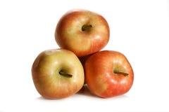 isolerade äpplen Royaltyfri Foto