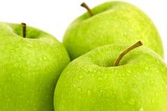 Isolerade äpplen Royaltyfri Bild