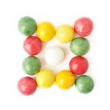 Isolerade åtskilliga tuggummi bollar Fotografering för Bildbyråer