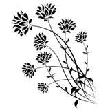 isolerade abstrakt blommor vektor illustrationer