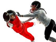 Isolerade amerikanska skuggor för flicka för fotbollsspelaretonåringkvinnor Arkivfoto