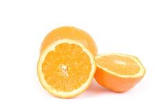 isolerade apelsiner Arkivfoton