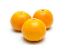 isolerade apelsiner Royaltyfri Fotografi