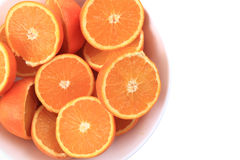 isolerade apelsiner Arkivbilder