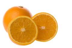 isolerade apelsiner Royaltyfri Bild