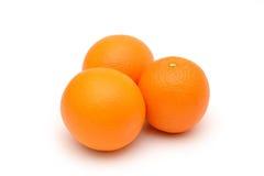 isolerade apelsiner bakgrund isolerad white för objektapelsiner tre Royaltyfria Foton