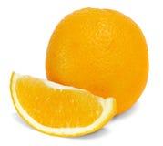 Isolerade apelsiner på en vit bakgrund Royaltyfria Foton