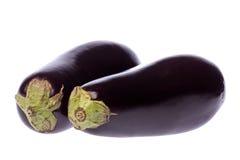 isolerade aubergines Royaltyfri Fotografi