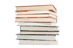 isolerade böcker pile white Arkivfoto
