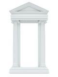 isolerade bakgrundskolonner marmorerar white Royaltyfria Foton