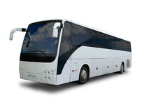 isolerade banan för bakgrundsbussen turnerar clippingen white Arkivbild