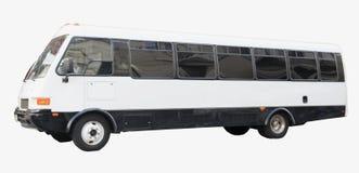 isolerade banan för bakgrundsbussen turnerar clippingen white Fotografering för Bildbyråer