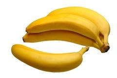 isolerade bananer Royaltyfri Foto