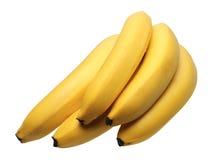isolerade bananer Royaltyfri Fotografi