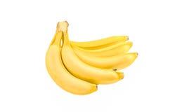 Isolerade bananer Arkivfoton