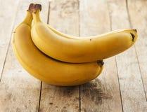 Isolerade bananer Royaltyfria Bilder