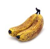 Isolerade bananer för bruna fläckar Royaltyfri Bild