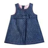 Isolerade barns jeanssundress royaltyfria bilder