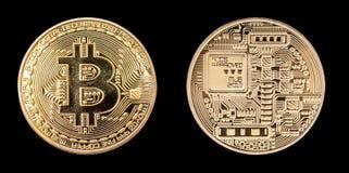 Isolerade BitCoin framdel och bank Royaltyfri Bild