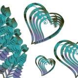 Isolerade blommandehjärtor Arkivfoto