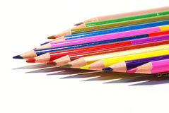 isolerade blyertspennor för bakgrund färg Fotografering för Bildbyråer