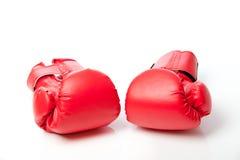 isolerade boxninghandskar Arkivfoto