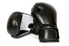 isolerade boxninghandskar royaltyfria bilder