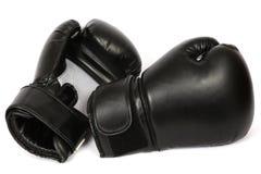isolerade boxninghandskar royaltyfri fotografi