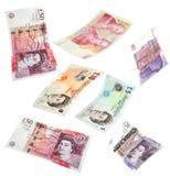 Isolerade brittiska pengar Arkivbild