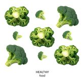 isolerade broccoliflorets Royaltyfria Bilder
