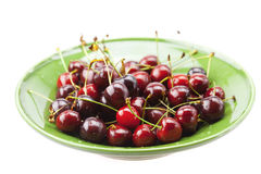 isolerade Cherry plate white Arkivfoto